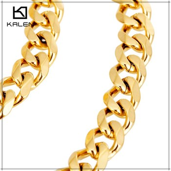 600x7mm 21k Carat Gold Plated Stainless Steel Necklace Jewelry 21 Product On Alibaba