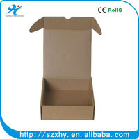 silver logo stamping color paper packaging boxes corrugated carton box
