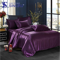 High quality mulberry silk bed sheet luxury silk bedding set
