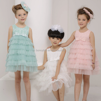 0c3c70610c1 Girls boutique dress clothing special occasion flower fancy girl dress3  Color Children Ruffled Flower Girl Dress