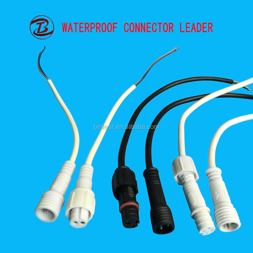 2 3 4 Pin ROHS CE IP67 Approved Male Female PVC Cable Connector