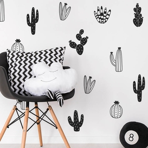 Cactus Wall Decals Woodland Tribal Wall Stickers for Kids Room Baby Nursery Decor