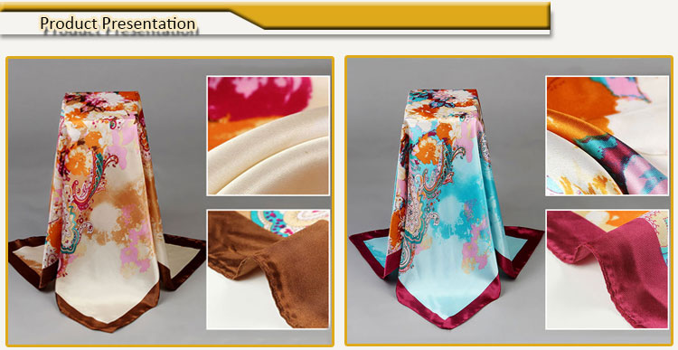 Classical Designs Polyester Muslim Scarf Hijab for Abaya