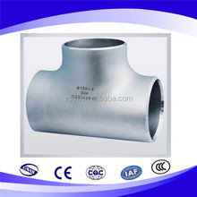 SCH 40 stainless steel pipe tee for pipe