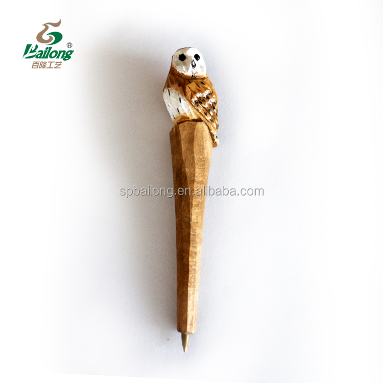 Ready to ship factory price 72 pcs per box custom logo carving wood pens