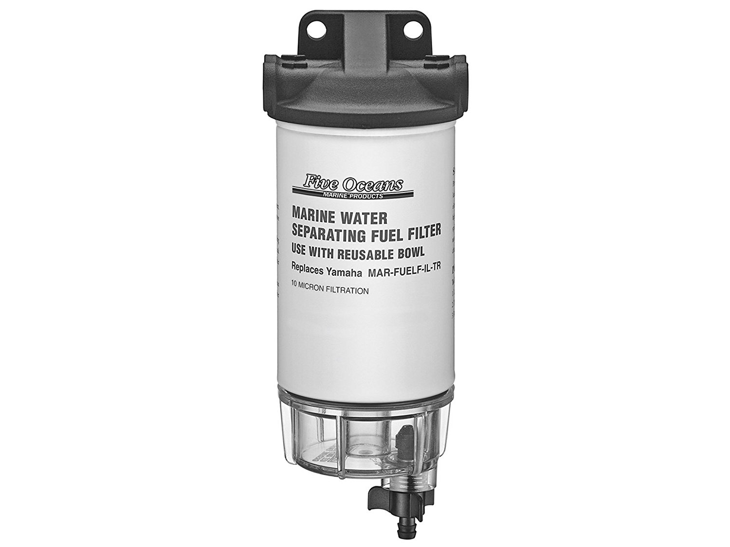 Get Quotations · Fuel Water Separator Filter Kit W/see Thru Clear Bowl &  Head for Yamaha Engines