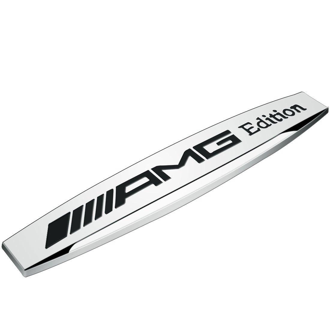 Deselen - LP-BS17 - Car Emblem Chrome Stickers Decals Badge Labeling for Mercedes Benz AMG , 1pc