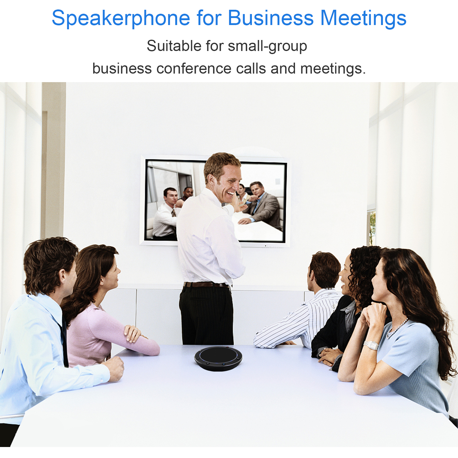 TEVO-NA100B Bluetooth Professional Conference Audio Speaker Wired USB PC Portable Conference Call Speaker
