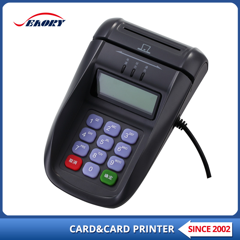 Cheap keypad input mini magnetic card reader for Post office
