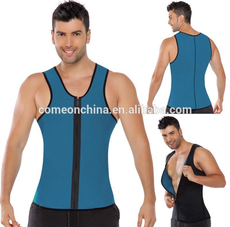 Mannen Zweet Tank Top Athletic Shirt Sport Running Afslanken Vest