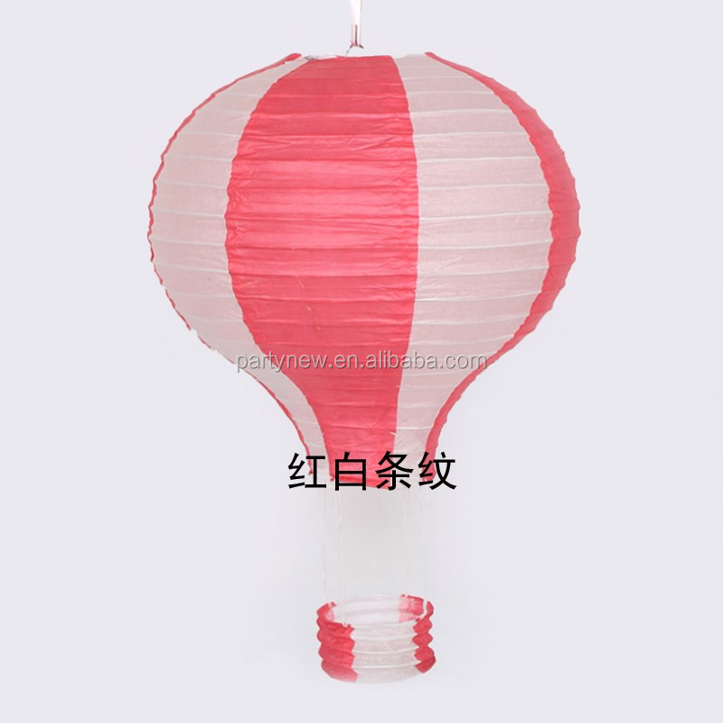 Wholesale 30cm Diameter Red White Striped Hot Air Balloon Striped