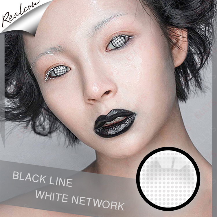 wholesale HEMA Realcon blue VV colored contact lenses for big eyes