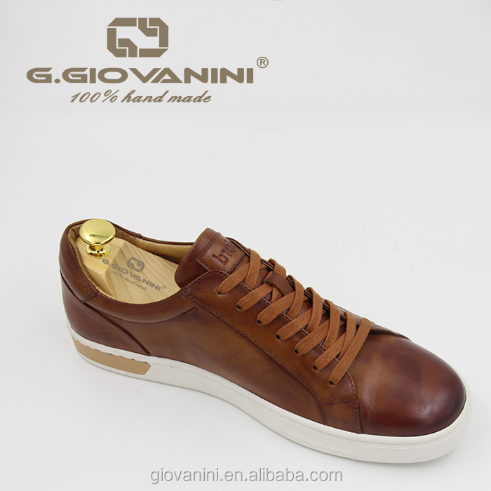 9ce94e200ced Hand painted calfskin sneaker with leather heel detail mens sneakers luxury  shoes