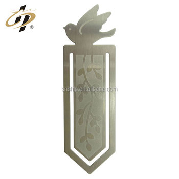 Wholesale cheap silver etch own design metal custom book marks