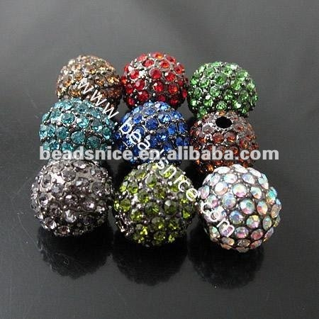 Beadsnice Fashion square beads with rhinestone rondelle