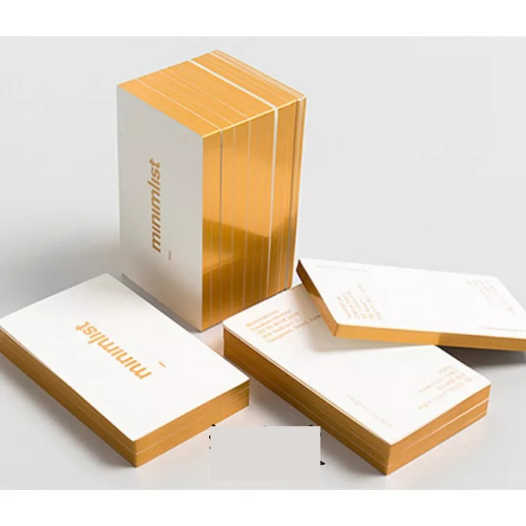 Colored edge cotton paper custom letterpress printing business cards