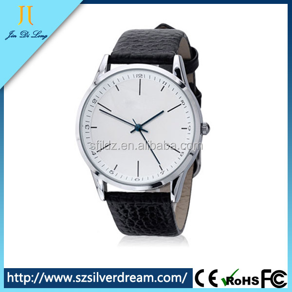 Top Selling 3ATM Japan Movt Leather Strap Anticlosewise Watch for Men