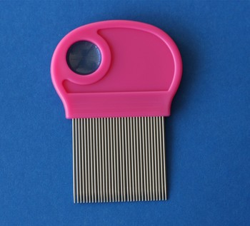 wholesale! 100PCS /lot Stainless steel needle nit lice comb with magnifier