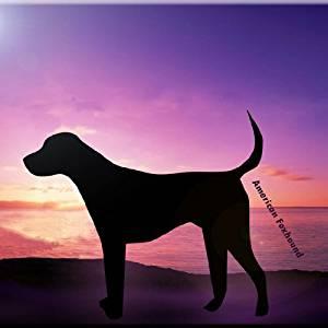 "Rikki Knight RK-12intilec-8401 12"" X 12"" American Foxhound Dog At Sunset Design Ceramic Art Tile"