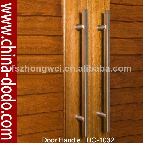 Madera de acero inoxidable de la puerta manija del tir n for Manijas para puertas de madera