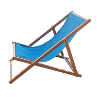 Wooden Folding Summer Canvas Beach Deck Chair