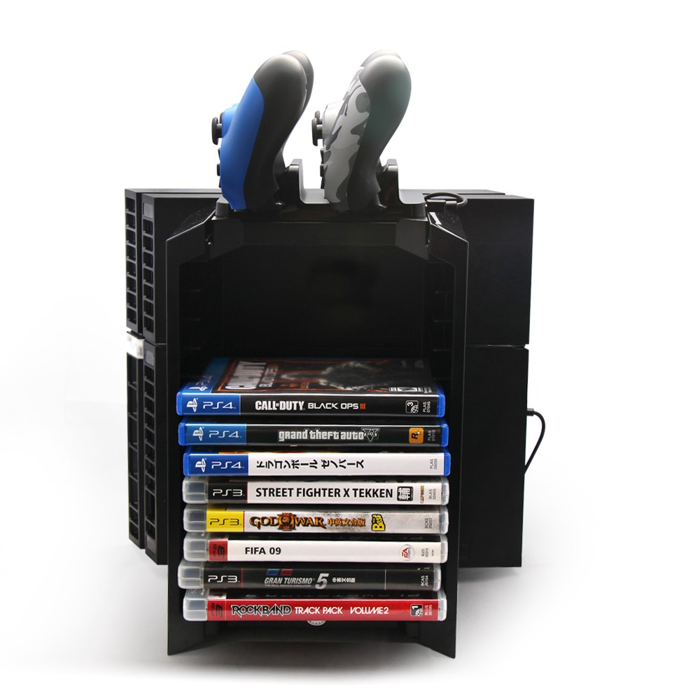 dobe tp4 025s cd disc holder and console stand for ps4 slim pro