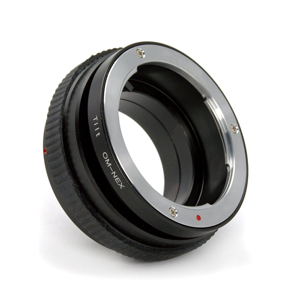 Camera Adapter Ring Tube Tilt Tilted Lens Adapter Ring for Olympus Om Mount Lens to Sony NEX E-mount Camera Such As: Sony Nex-3, Nex-5, Nex-7, Nex-c3, Nex-5n Sony Nex-vg10, Nex-vg20 Video Camera Etc