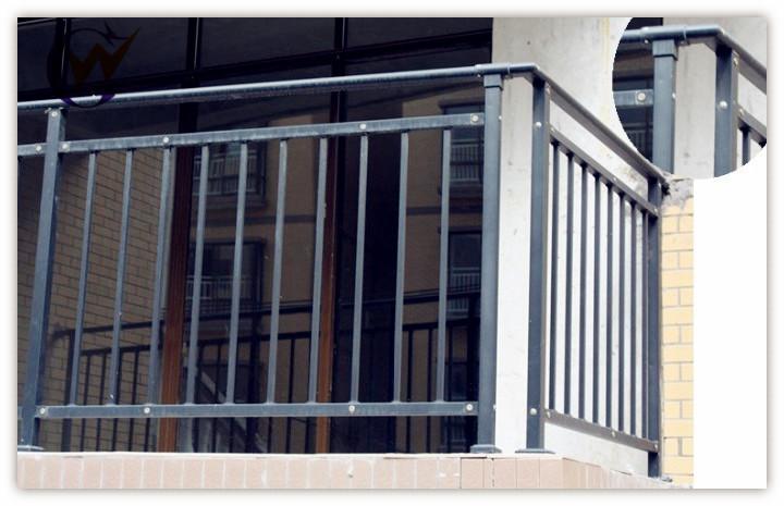 Simple modern steel powder coating balcony railing buy for Simple railing design for balcony