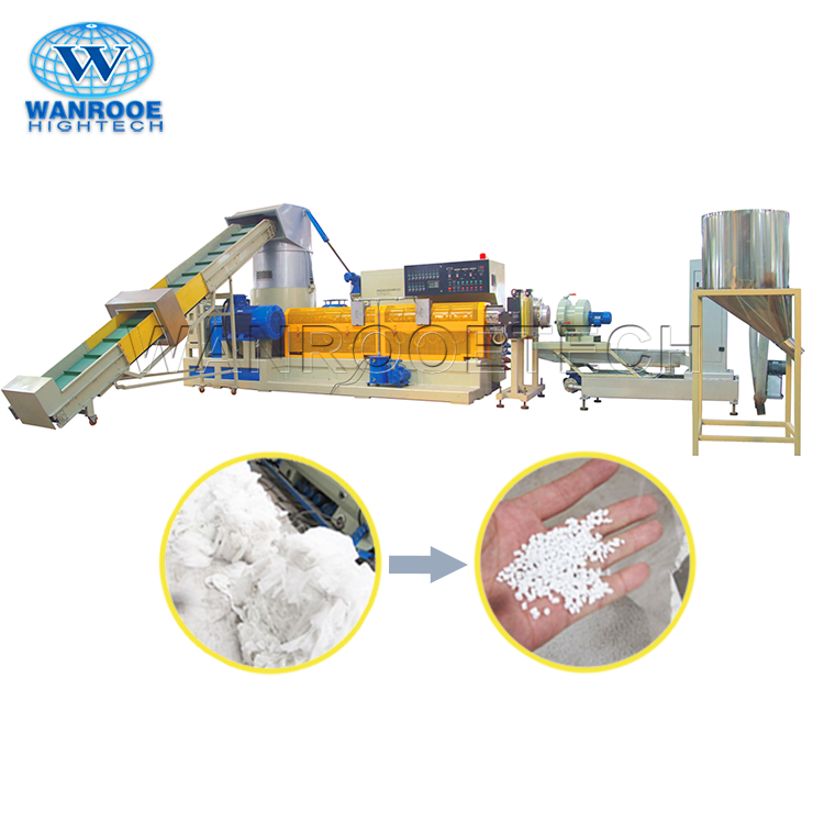 Afval PP PE Film Korrels Plastic Pellet Making Machine