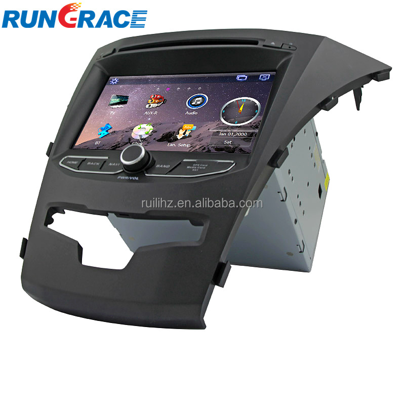 Commercio all'ingrosso 8 pollice touch screen SSangyong Korando android car audio