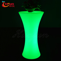 Hot selling waterproof outdoor RGB glow led bar table switches color by remote control suit for party, bar, outdoor events