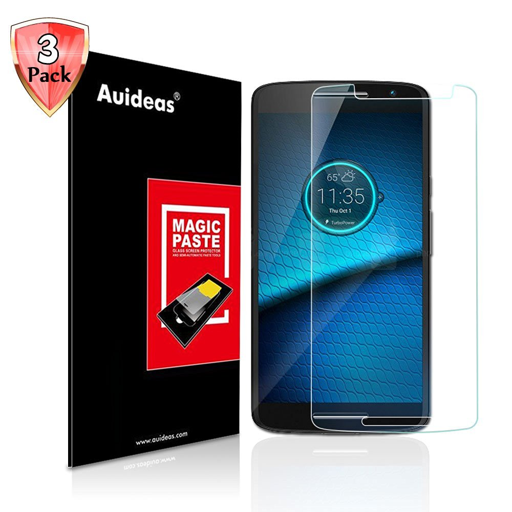 Motorola Droid Maxx 2 /Moto X Play Screen Protector,Auideas Tempered Glass Screen Protector for Motorola Droid Maxx 2 /Moto X Play [3-Pack]