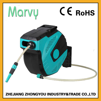 Wall Mounted Retractable Garden Hose Reel With 15m Pvc Water