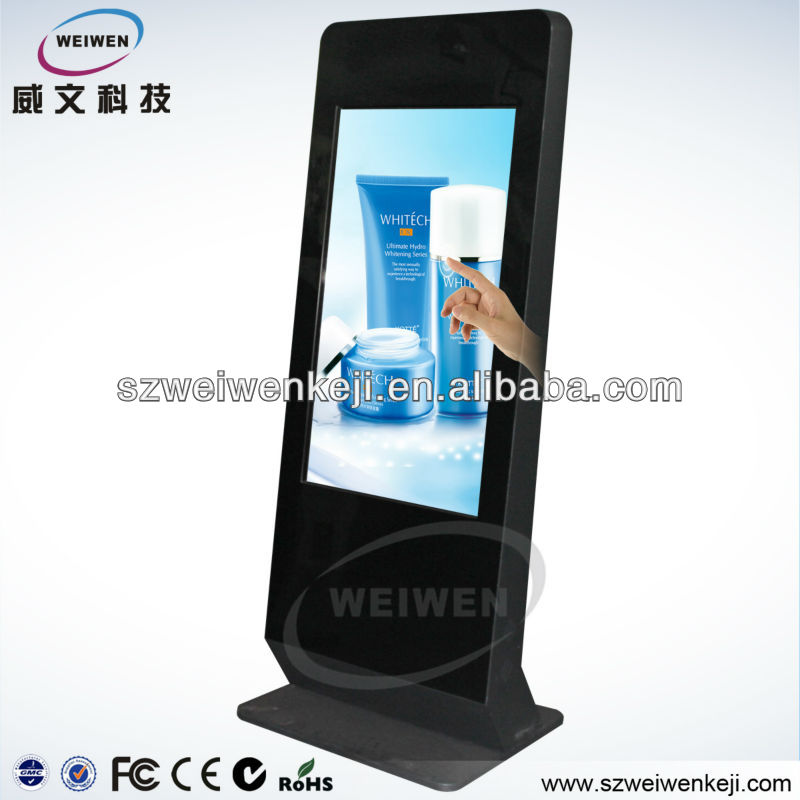 Hot!!! Ultra-thin Vertical 42 inch touch screen backpack lcd advertising display kiosk