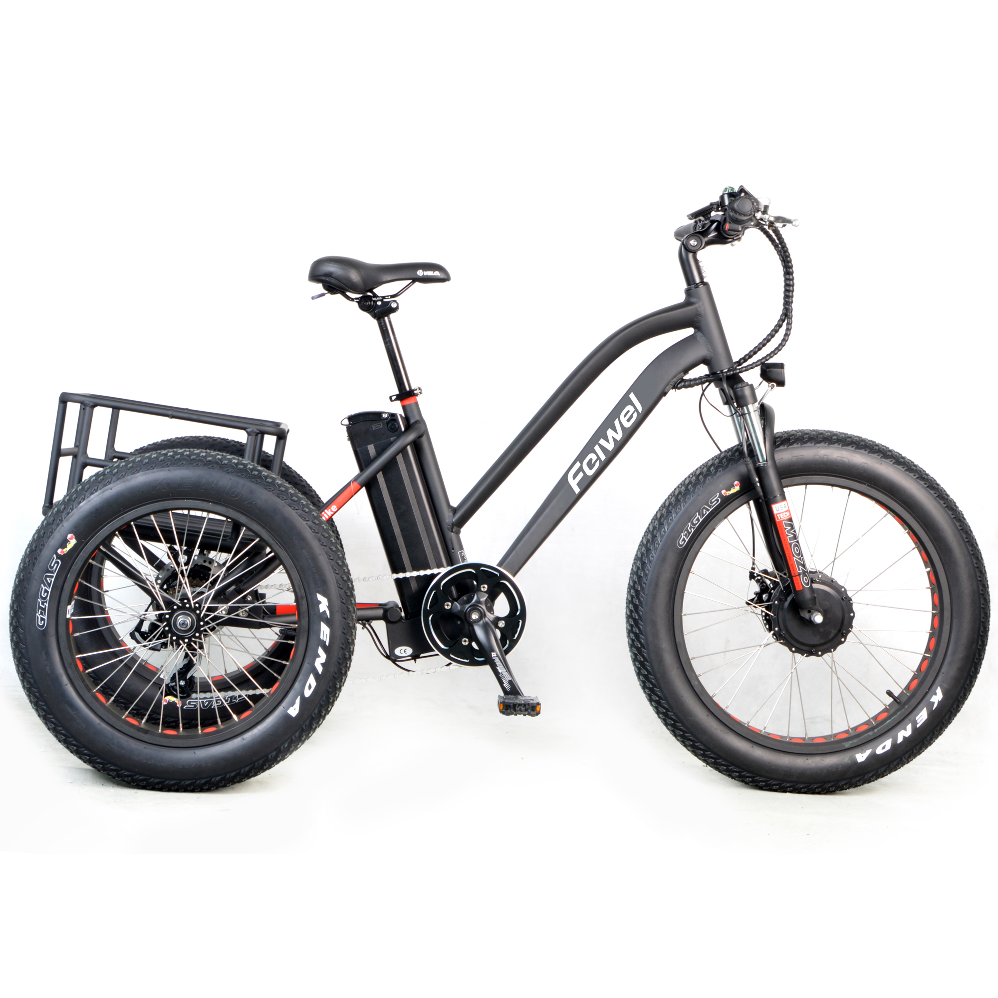 48v 750w Electric Bike 3 Wheel Fat Bicycle E