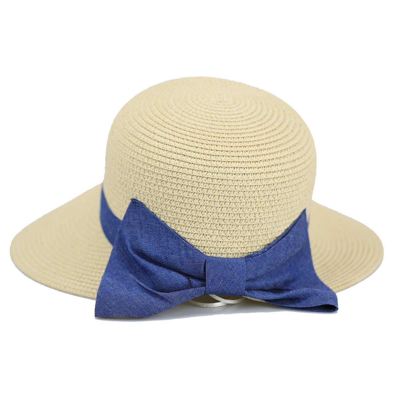 Get Quotations · Hi stone Women Floppy Straw Hat Summer Beach Straw Hat  Wide Brim Sun Hat 9c2af3fa6432