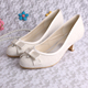 New Low Heel Lace Bridal Shoes