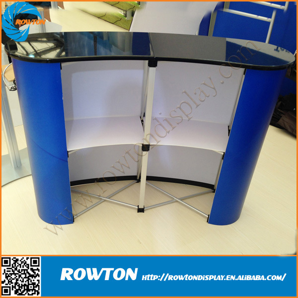 Magnetic Pop Up Counter Curved Banner Aluminum Exhibition