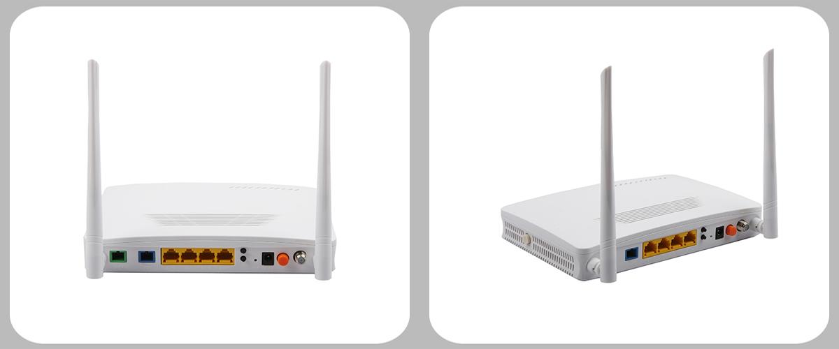 Üçlü Oyun Cihazı 4LAN + 2 POTS + WiFi + CATV EPON ONU GEPON ONU WiFi yönlendirici Ağ Geçidi IPTV Seti Top kutusu