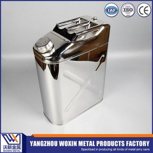 Customized stainless steel portable safety metal jerry can