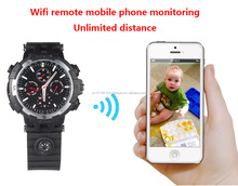 720P WIFI Watch Camera IR Night Vision <strong>spy</strong> Watch Wrist <strong>spy</strong> Camera Leather Watch Hidden Camera