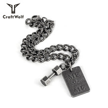 만드는 법 Wolf Fashion Jewelry Men Women Stainless Steel 아령 Bracelet