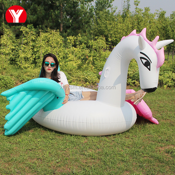 2017 lovely Inflatable white pegasus big floats for the river