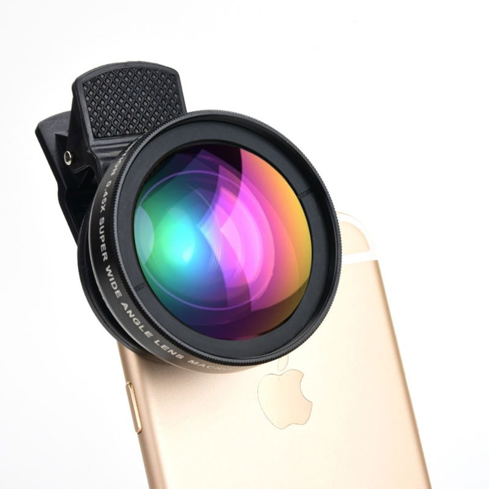 HD Cell Phone Camera Lens 0.45X Wide Angle + 15X Macro Lense Accessories Kit by ProPix - Expand Your Field of View By 50%, Capture Unrivaled Detail - Fits iPhone / iPad & Most Smartphones