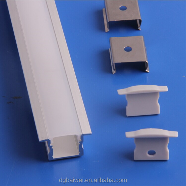 Square Shape 1m/2m/3m/lot milky Cover 5630 LED aluminium profile for led strips