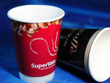 Wholesale paper cup/double wall paper coffee cup