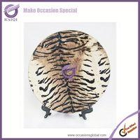 18606-3Ripple Flora plastic Matte Gold Charger Plates Coral BULK