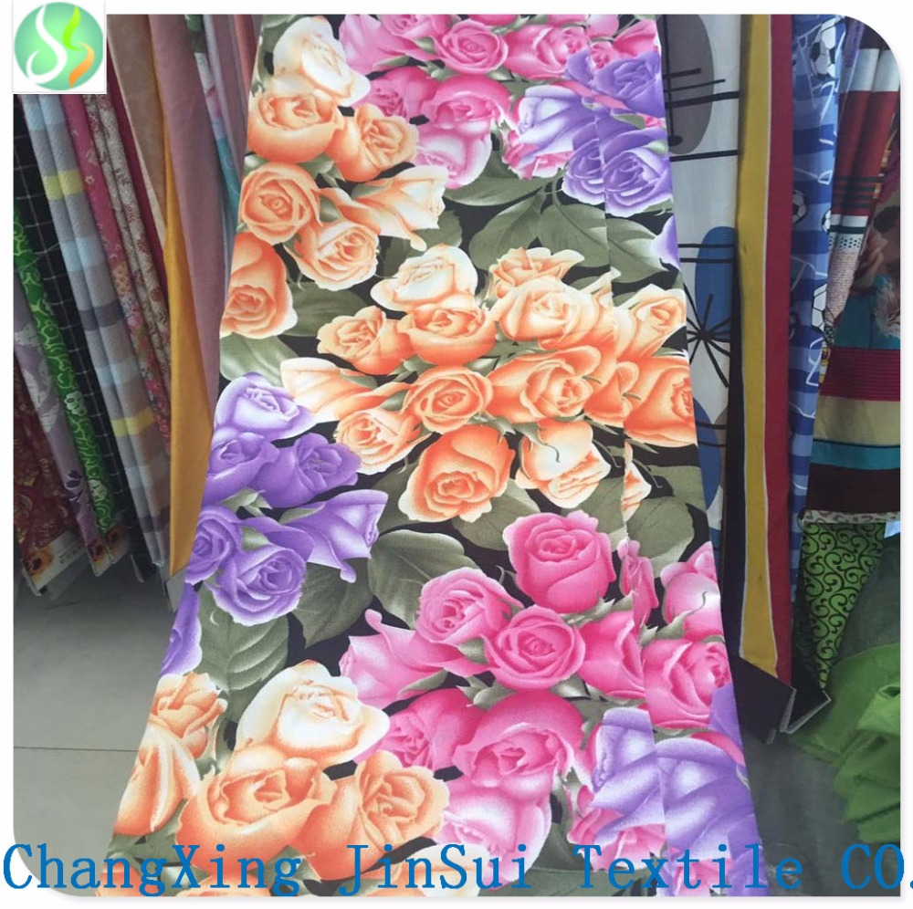 Hot Selling 100% polyester fabric 75D*150D plain 3D printing fabric home textile