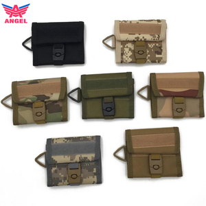 Outdoor key wallet, army green multi fold tactical wallet