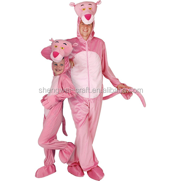 Factory hot sale adult pink panther costume